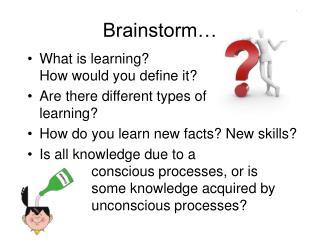 Brainstorm…