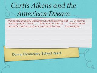 Curtis Aikens and the American Dream