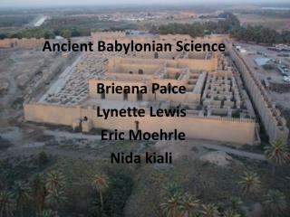 Ancient Babylonian Science