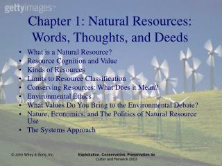 Chapter 1: Natural Resources: Words, Thoughts, and Deeds