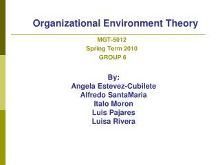 Organizational Environment Theory