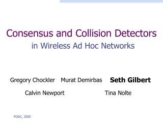 Consensus and Collision Detectors in Wireless Ad Hoc Networks