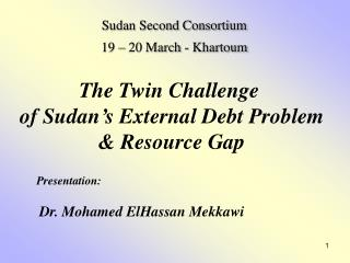 The Twin Challenge  of Sudan s External Debt Problem  Resource Gap