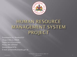 Human Resource Management System Project