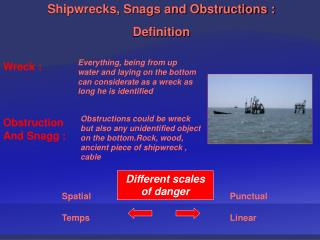Shipwrecks, Snags and Obstructions :  Definition