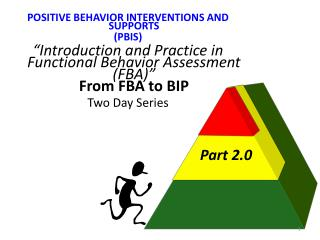 "POSITIVE BEHAVIOR INTERVENTIONS AND SUPPORTS (PBIS) "" Introduction and Practice in Functional Behavior Assessment (FBA)"