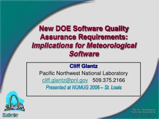 New DOE Software Quality Assurance Requirements:  Implications for Meteorological Software