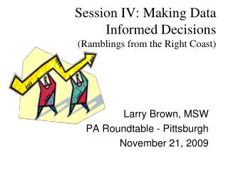 Session IV: Making Data Informed Decisions (Ramblings from the Right Coast)