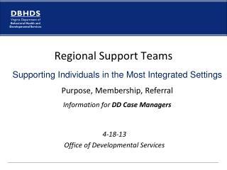 4-18-13 Office of Developmental Services