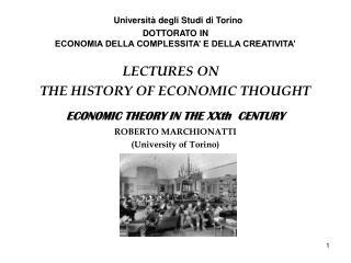 Università degli Studi di Torino DOTTORATO IN  ECONOMIA DELLA COMPLESSITA' E DELLA CREATIVITA'
