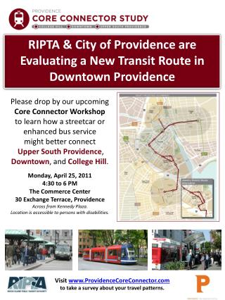 RIPTA & City of Providence are Evaluating a New Transit Route in Downtown Providence