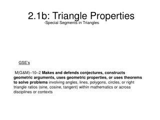 2.1b: Triangle Properties