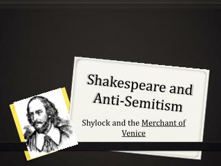 Shakespeare and Anti-Semitism