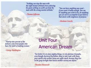 Unit Four American Dream