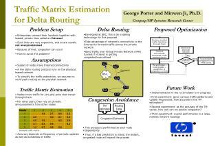 Traffic Matrix Estimation for Delta Routing