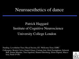 Neuroaesthetics of dance