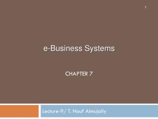 Lecture-9/ T.  Nouf Almujally