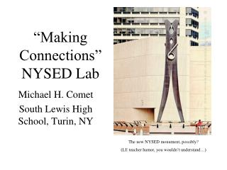"""""""Making Connections""""  NYSED Lab"""