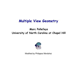 Multiple View Geometry