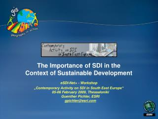 The Importance of SDI in the Context of Sustainable Development