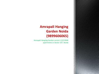 Amrapali Hanging Gardens - Confirm booking @ 9899303232
