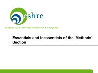 Essentials and Inessentials of the �Methods� Section