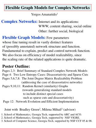 Flexible Graph Models for Complex Networks