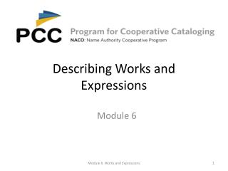 Describing Works and Expressions