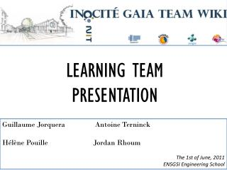 LEARNING TEAM PRESENTATION
