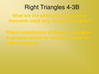 Right Triangles 4-3B