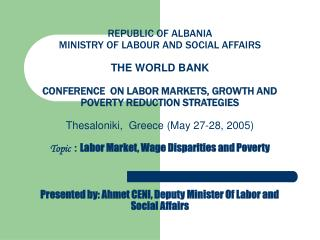 LABOR MARKET, WAGE DISPARITIES AND POVERTY
