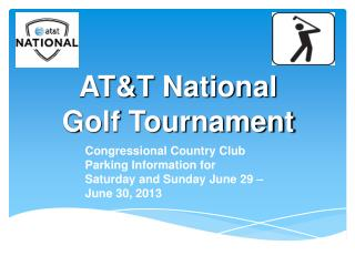 AT&T National Golf Tournament