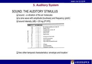5. Auditory System