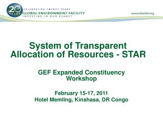 System of Transparent Allocation of Resources - STAR