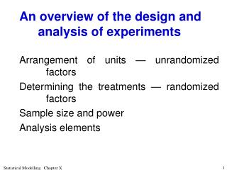 An overview of the design and analysis of experiments