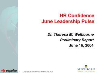 HR Confidence  June Leadership Pulse