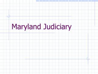 Maryland Judiciary