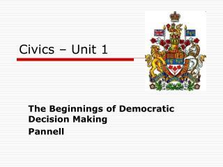 Civics – Unit 1
