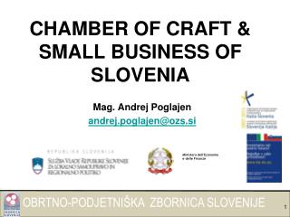 CHAMBER OF CRAFT & SMALL BUSINESS OF SLOVENIA