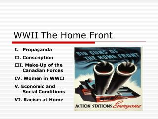 WWII The Home Front
