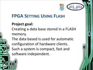 FPGA Setting Using Flash