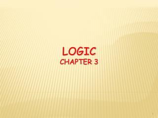 Logic ChAPTER 3