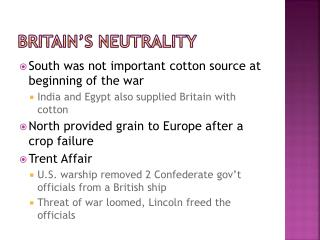 Britain's Neutrality