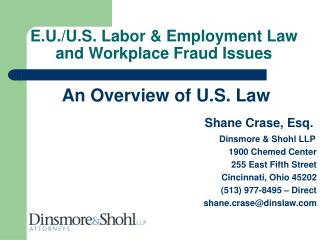 E.U./U.S. Labor & Employment Law and Workplace Fraud Issues