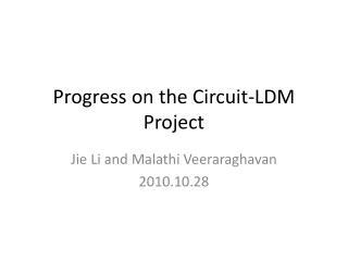 Progress on the Circuit-LDM Project
