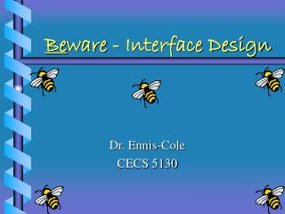 Be ware - Interface Design