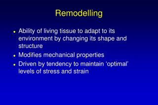 Remodelling