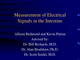 Measurement of Electrical Signals in the Intestine