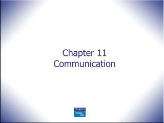 Chapter 11 Communication