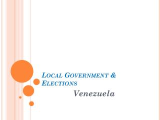 Local Government & Elections